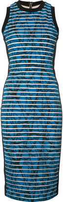 Nicole Miller striped fitted dress $375 thestylecure.com