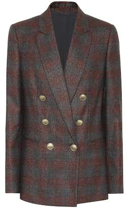 Brunello Cucinelli Plaid wool-blend blazer