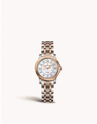 Rosegold CARL F BUCHERER 00.10621.07.77.21 stainless steel and 18ct rose-gold watch