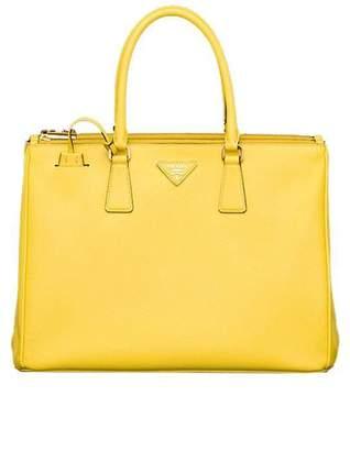 Prada Saffiano Lux Shopping Tote Yellow
