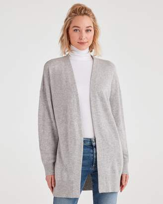 7 For All Mankind Cashmere Evil Eye Cardigan in Light Heather Grey