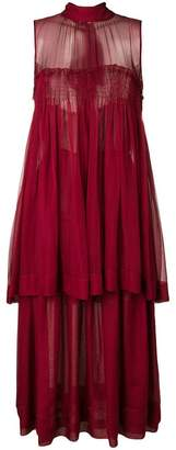 Rochas flared sleeveless dress