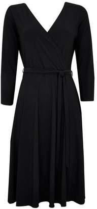 Wallis Petite Black Wrap Dress