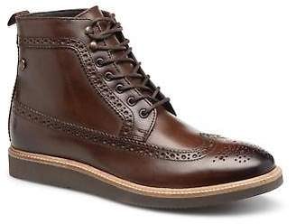 Base London Men's NEBULO Lace-up Ankle Boots in Brown