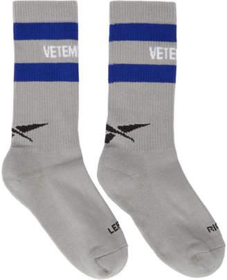 Vetements Grey Reebok Edition Classic Socks