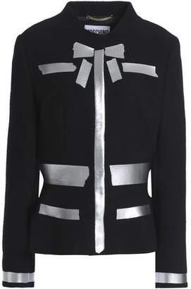 Moschino Metallic-Coated Wool-Blend Bouclé Jacket