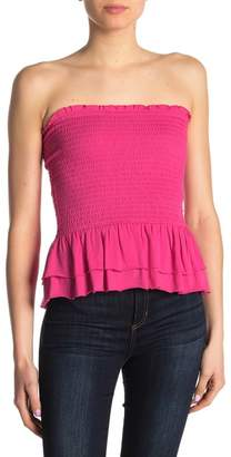 32acfd3217 Abound Smocked Layered Ruffle Tube Top