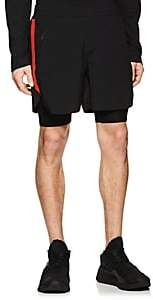 BLACKBARRETT Men's Layered Compression Gym Shorts - Black