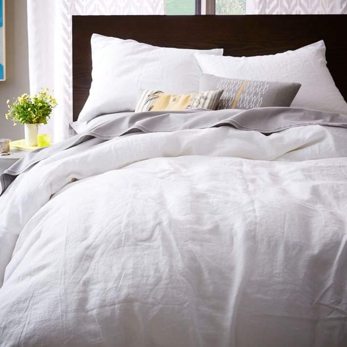 Belgian Linen Duvet Cover - White