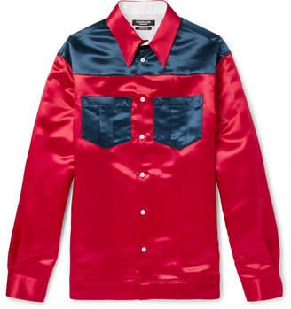 Calvin Klein Two-Tone Satin Shirt