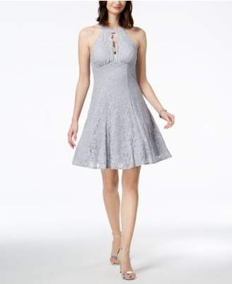 Night Way Nightway Lace Fit & Flare Dress