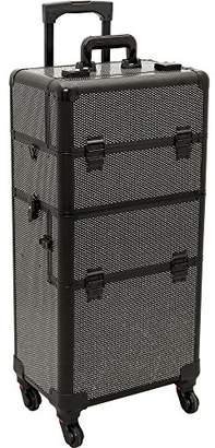 Hiker Foscari 2-in-1 Rolling Makeup Case Professional Nail Travel Organizer Box
