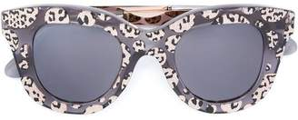 Cutler & Gross leopard print sunglasses