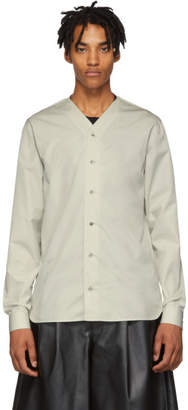 Jil Sander Grey FF Baseball Neck Shirt