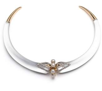 Alexis Bittar Lucite(R) Crystal Collar Necklace