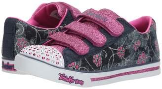 Skechers Sparkle Glitz - Denim Daisy Girl's Shoes