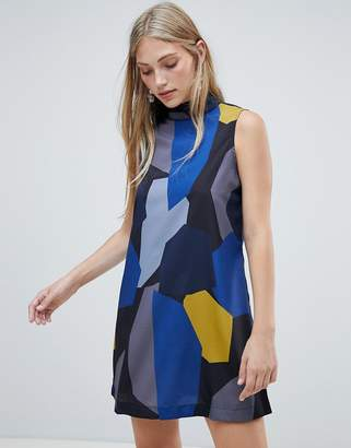 NATIVE YOUTH graphic shift dress