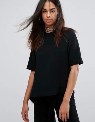 Ann Sofie Back Back By Back by Flap Asymmetric T-Shirt
