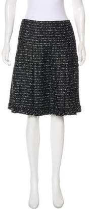 Oscar de la Renta Tweed Knee-Length Skirt