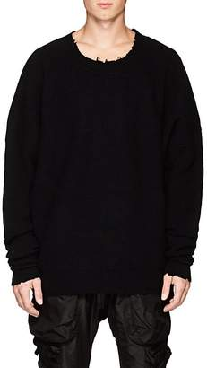 Taverniti So Ben Unravel Project Men's Waffle-Knit Wool-Cashmere Sweater