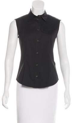 Prada Sleeveless Button-Up Top