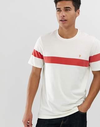 Farah Haryln Block Stripe T-Shirt in Red