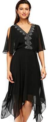 Wallis Black Embellished Hanky Hem Dress