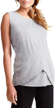 Ingrid & Isabel R) Cross Front Maternity/Nursing Top