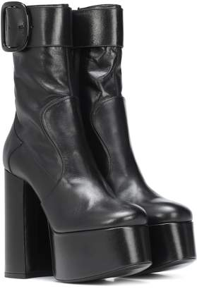 Saint Laurent Billy Platform leather ankle boots