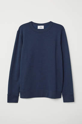 H&M Silk-blend Sweatshirt - Blue