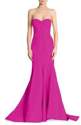 Zac Posen Silk Faille Strapless Gown