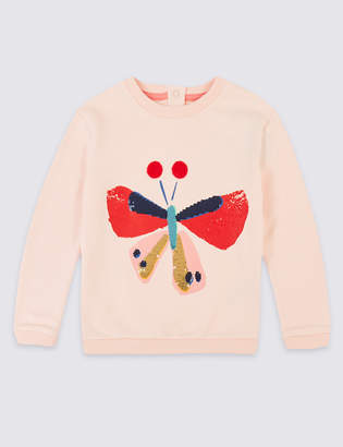 Marks and Spencer Cotton Rich Sweatshirt (1-7 Years)