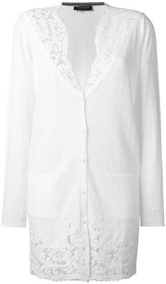 Twin-Set lace detailing buttoned cardigan $168.42 thestylecure.com