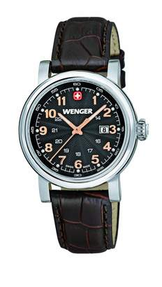 Wenger Urban Classic women's quartz Watch with Dial analogue Display and brown stainless steel Strap 011021104