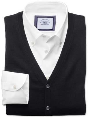 Charles Tyrwhitt Black Merino Wool Vest Size XXL