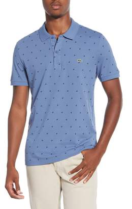 Lacoste Slim Fit Patterned Pique Polo