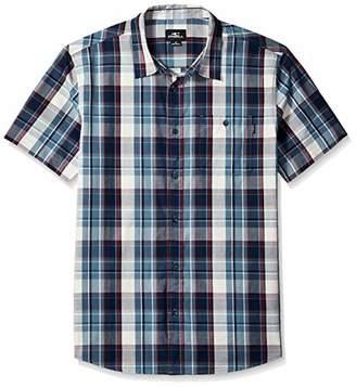 O'Neill Men's Kensington Short Sleeve Woven Shirt Dust Blue