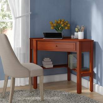 Andover Mills Anka 1 Drawer Corner Writing Desk