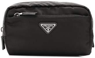 Prada logo plaque make-up bag