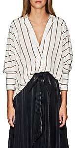 A.L.C. Women's Noreen Striped Silk Blouse - White