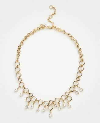 Ann Taylor Crystal Circle Necklace