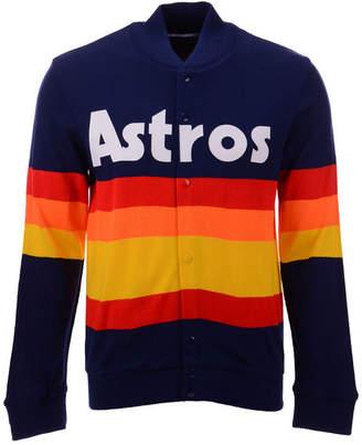 Mitchell & Ness Men Houston Astros Authentic Sweater Jacket