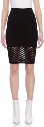 Atos Lombardini Pointelle Knit Pencil Skirt