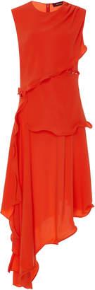 Sies Marjan Helena Asymmetric Crepe Midi Dress