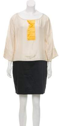 See by Chloe Long Sleeve Scoop Neck Dress