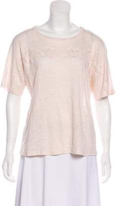 Rebecca Taylor Linen Short Sleeve Top