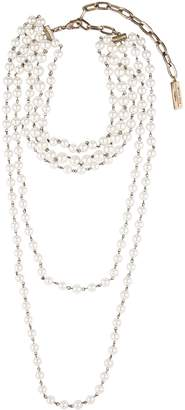 Max Mara Multi-Strand Pearl Necklace