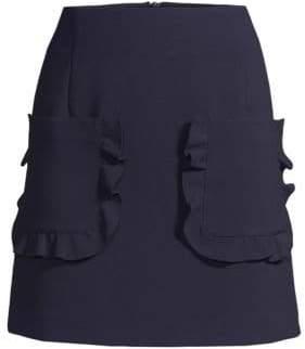 Sandro Achilee Ruffle Mini Skirt