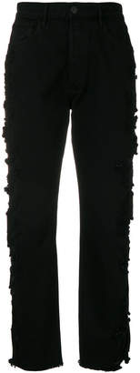 3x1 ripped tapered jeans