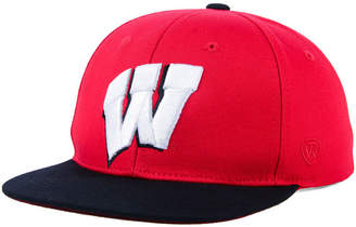 Top of the World Boys' Wisconsin Badgers Maverick Snapback Cap
